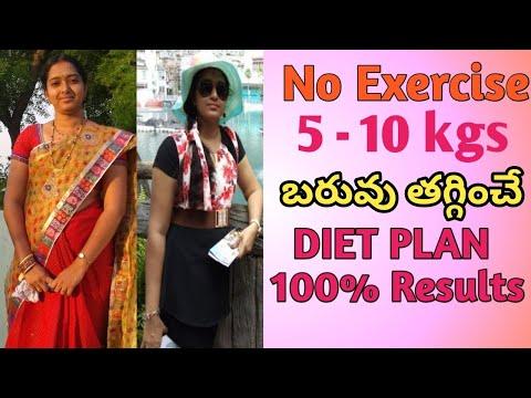 Diet plan to Lose weight fast in Telugu  Weight loss tips in Telugu  Weight loss diet plan for women