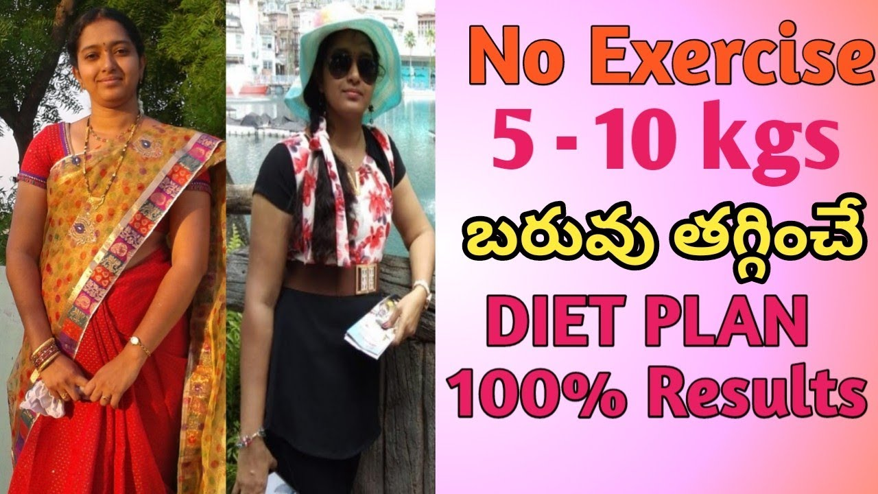 Diet plan to Lose weight fast in Telugu| Weight loss tips in Telugu| Weight loss diet plan for women