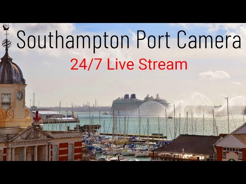 Port Cam - 24/7 Live Stream Camera Southampton Port Ships, Cruise Ships, Ferries and Container
