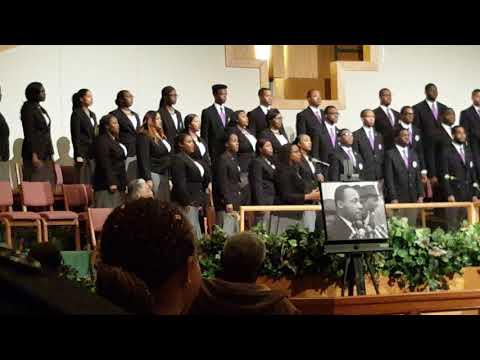 Wiley College A Capella Choir in Wichita, KS MLK 2018 Celebration Video 1