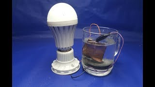 Free energy salt water with LED light bulbs - Experiment science projects at home