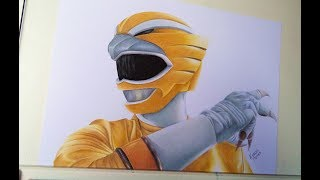 Speed Drawing Yellow Ranger Wild Force [PROJETO POWER RANGERS]