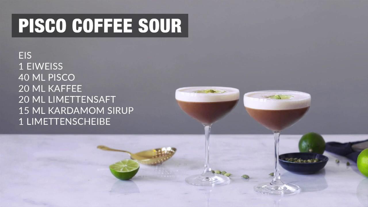 Rezept Royal Pisco Coffee Sour Youtube