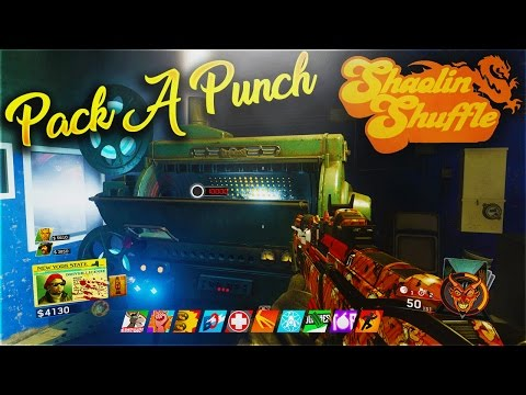 "Thumbnail: SHAOLIN SHUFFLE - ""PACK A PUNCH"" GUIDE! - ALL PART LOCATIONS TUTORIAL! (IW ZOMBIES SHAOLIN SHUFFLE)"