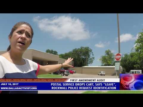 First Amendment Audit - USPS - Rockwall PD