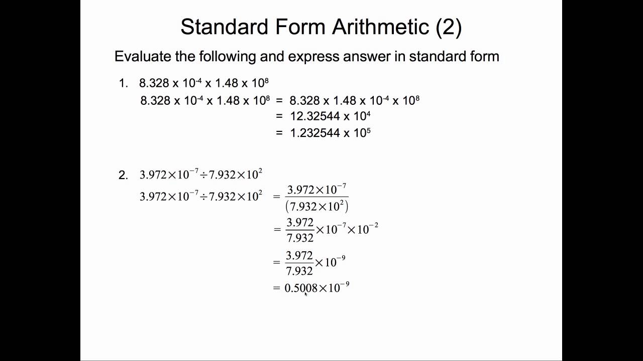 Standard form multiplication and division youtube standard form multiplication and division falaconquin