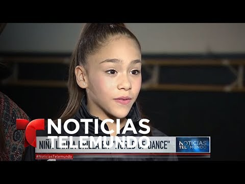 Niña hispana de Florida deslumbra a Jennifer López | Noticiero | Noticias Telemundo