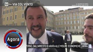 I nodi del Governo, dall'arresto di Arata alle misure economiche - Agorà 13/06/2019
