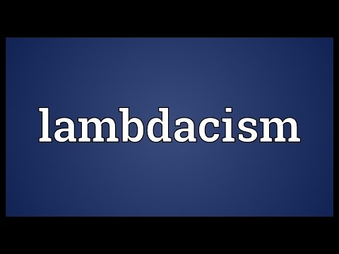Header of lambdacism