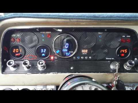 Intellitronix gauges installed in custom instrument panel,64 Chevy truck