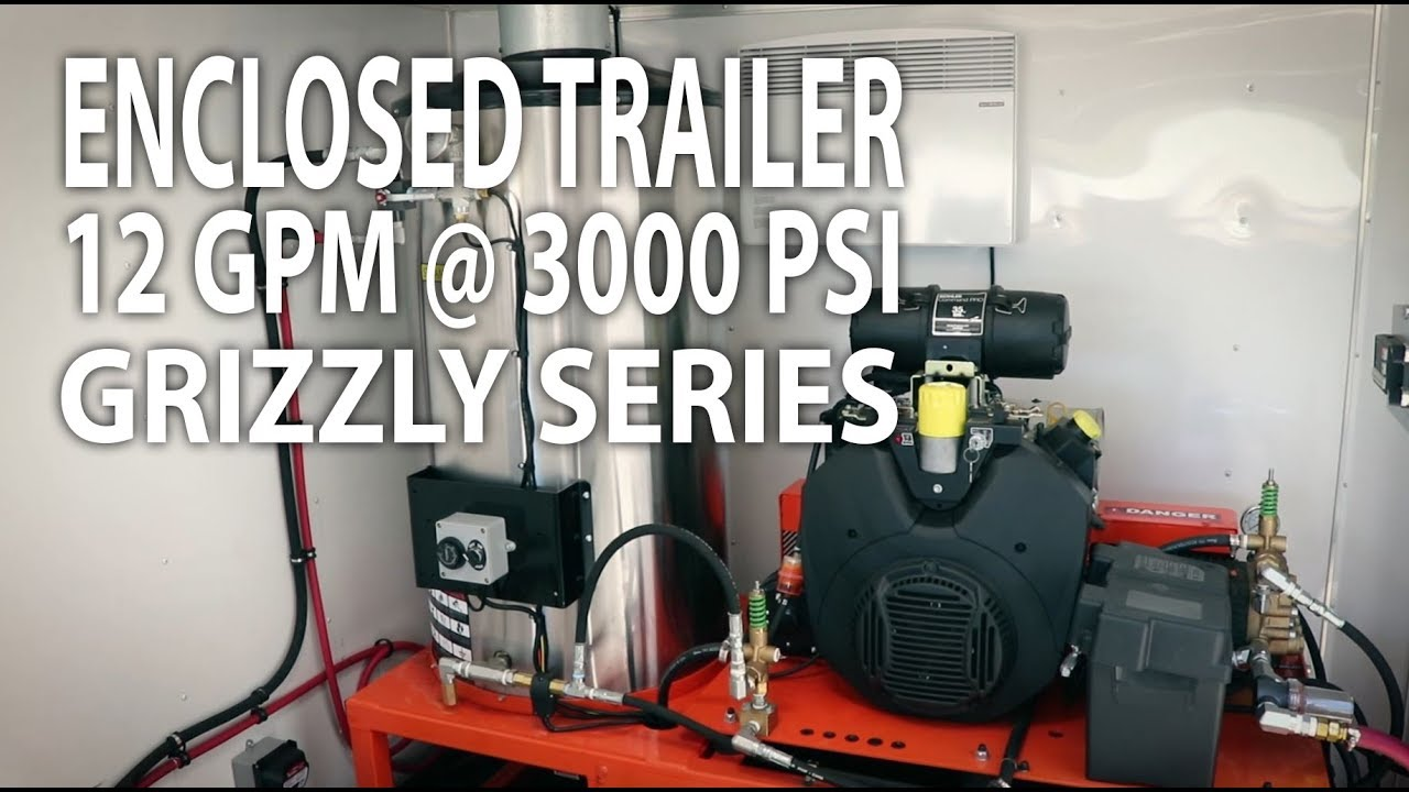 12 GPM @ 3000 PSI Pressure Washer Trailer System - Easy Kleen