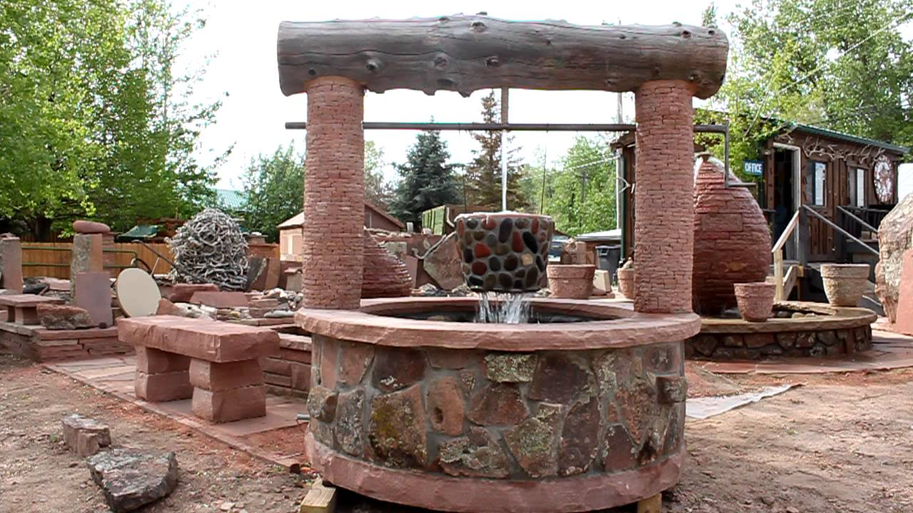 Blue Mountain Stone Custom Made Wishing-Well water ...