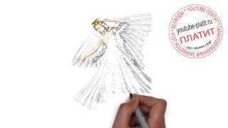 как нарисовать ангела карандашом поэтапно видео
