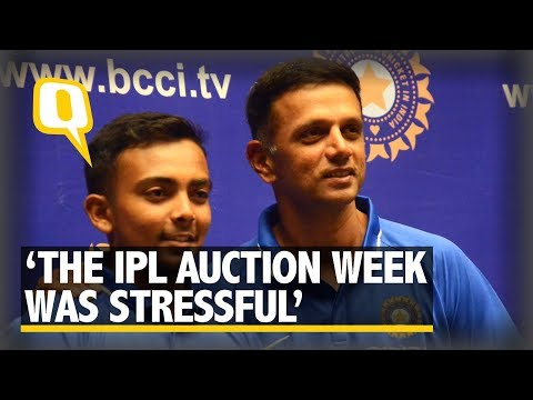 The IPL Auction Week Was Stressful: Rahul Dravid on U-19 World Cup | The Quint