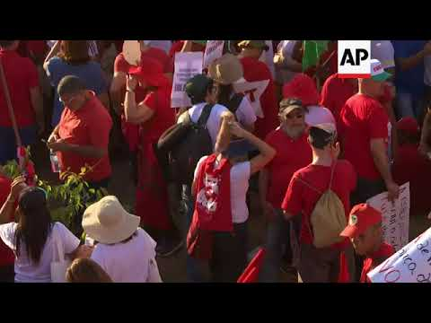 Supporters out in force in Brasilia to back Lula's election candidacy