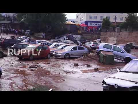 Greece: Flash floods strikes Athens' suburb