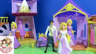 4 Disney Magiclip Rapunzel's Tower, Flip 'n Switch Castle Fairytale Wedding Sets