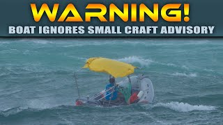 BOAT MAKES A RECKLESS DECISION AT HAULOVER INLET!