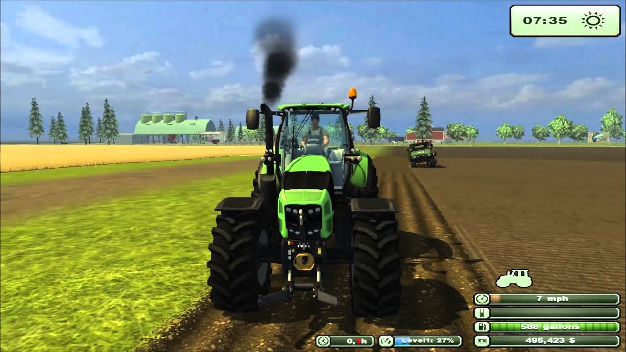 Tractor Simulator 2 : Farming simulator texas edition mod tractor deutz