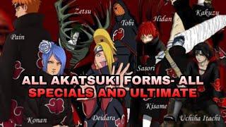All Akatsuki Forms(All Specials And Ultimates) - Bleach Vs Naruto 3.3 Mugen Mod Apk