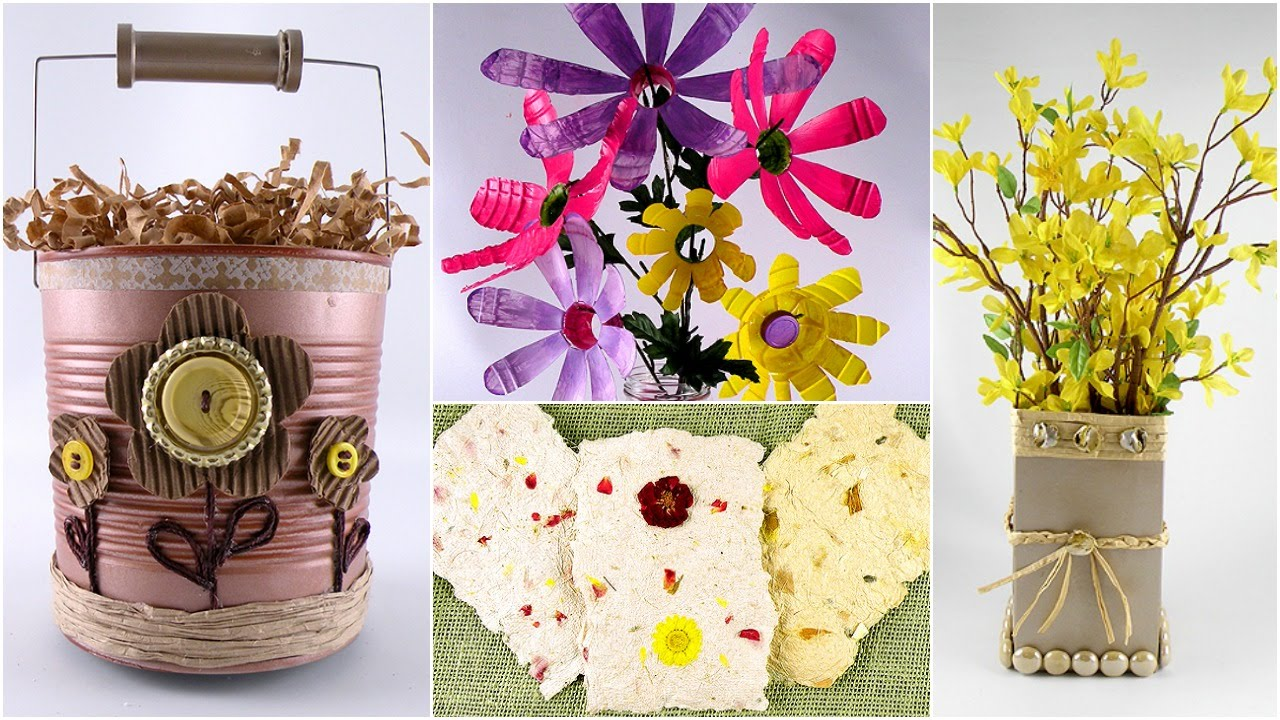 Earth day crafts and decorations using household items for Household design items