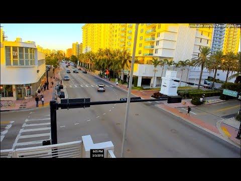 Live HD Webcam: South Beach, Miami Beach. SPRING BREAK