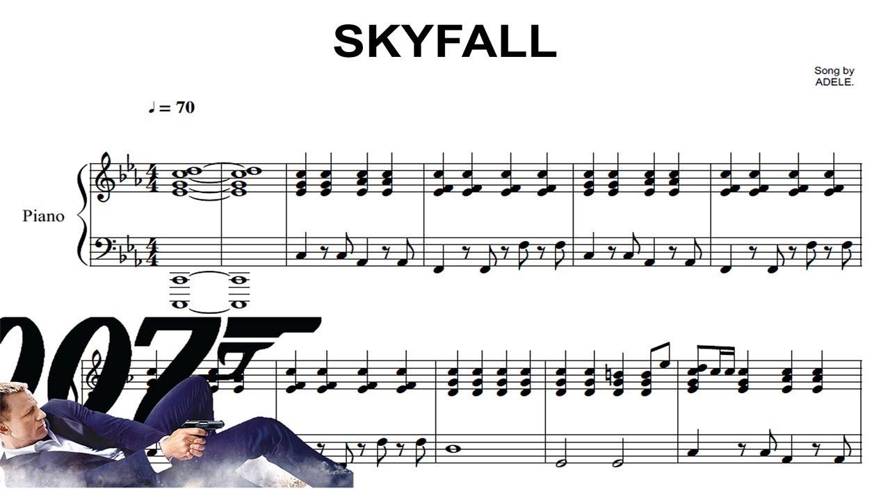 Skyfall Easy Piano Sheet Music By Adele Easy Piano Piano Sheet
