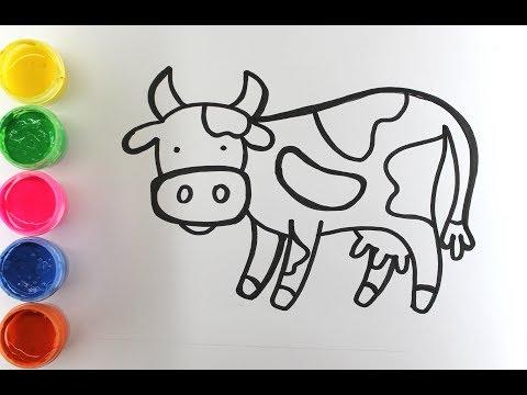 Как легко нарисовать корову ребенку