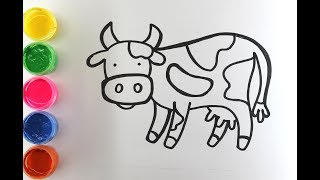 кАК НАРИСОВАТЬ КОРОВУ  How to draw a Cow PENCIL  inek nasl çizilir