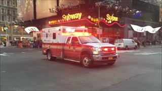 FDNY New EMS Ambulance Responding On West 42nd Street In Midtown Manhattan