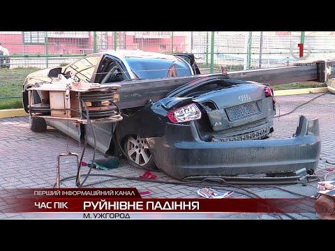 Будівельний кран розтрощив два автомобілі в Ужгороді