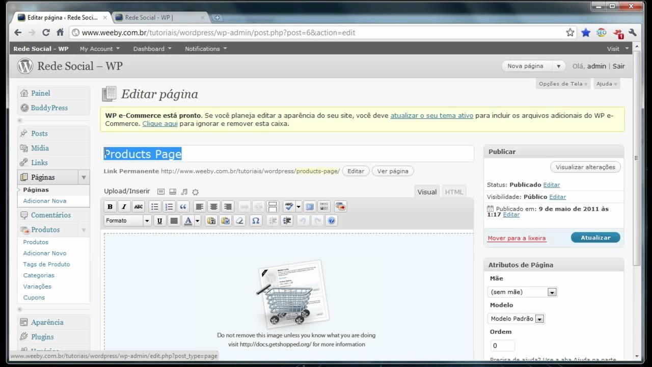 772c3f64d Veja como criar sua Loja Virtual sem gastar nada com o WordPress ...