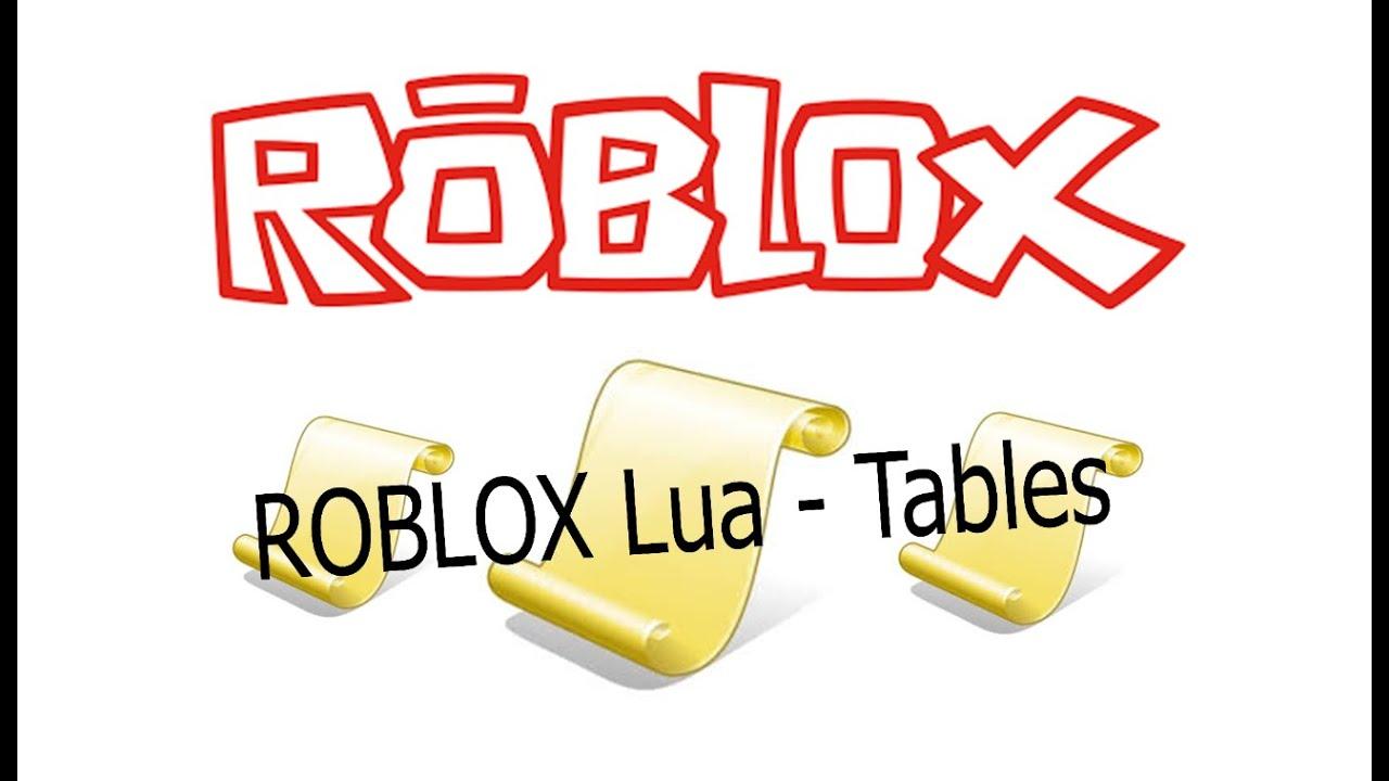 ROBLOX Lua - Tables #7
