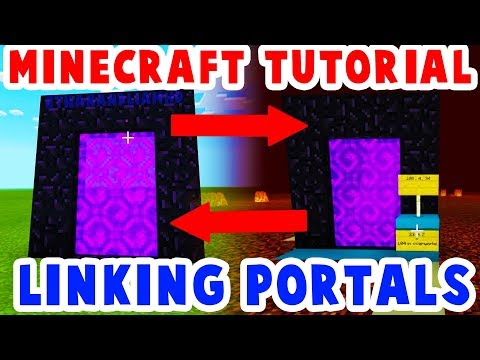 Linking Nether Portals: Travel By Nether Portal Minecraft Tutorial : How To