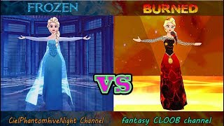 FROZEN vs BURNED - Let It Go (Battle Best Animation)
