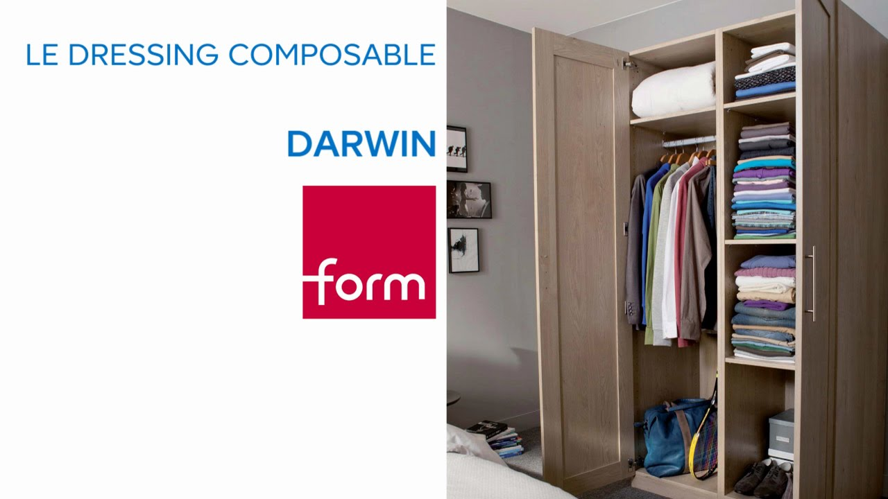 concept de dressing composable darwin form castorama youtube. Black Bedroom Furniture Sets. Home Design Ideas