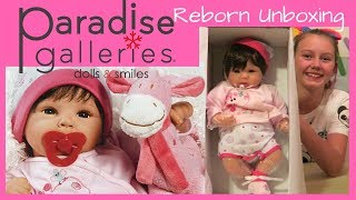 Reborn UNBOXING Paradise Galleries Lifelike Realistic Baby Doll, Tall Dreams 19-inch Weighted