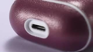 Étui Luxe en cuir pour boitier de charge Airpods