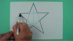 Wie zeichnet man freihändig einen Stern? Zeichnen für Kinder