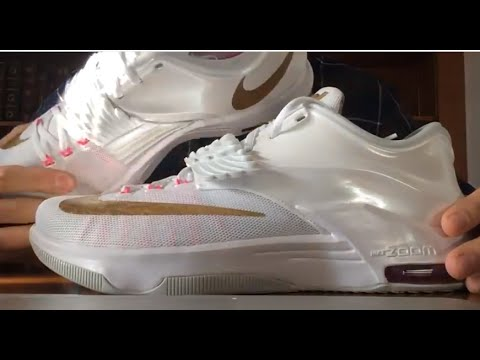 timeless design 6ef6a 2caf2 Nike KD 7 VII  Aunt Pearl  Kevin Durant Kay Yow Cancer Fund  Unboxing+Review+On Foot