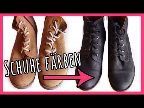 Schuhe Farben Tutorial So Einfach Geht S Youtube