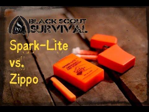 Zippo FAIL- Spark Lite vs. Zippo Emergency Fire Starter