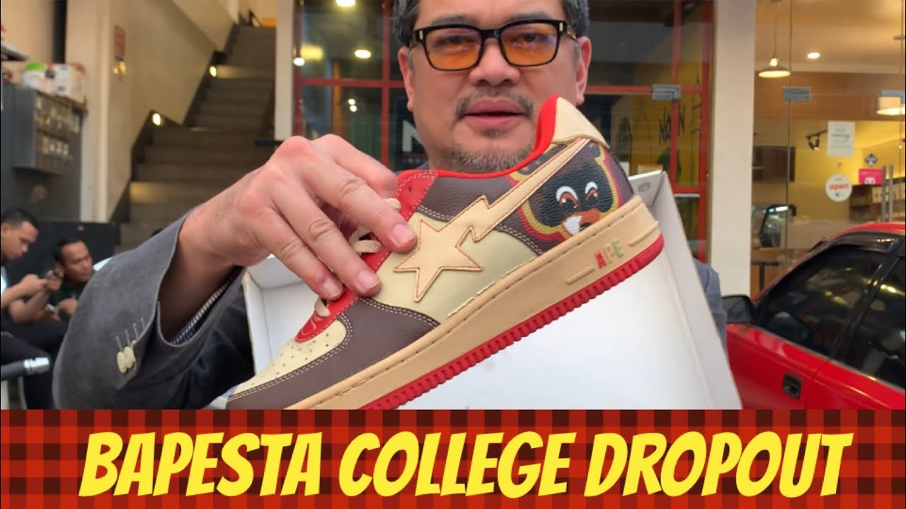 MY KANYE WEST BAPESTA COLLEGE DROPOUT