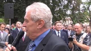 Miloš Zeman ve stylu Baracka Obamy, září 2012