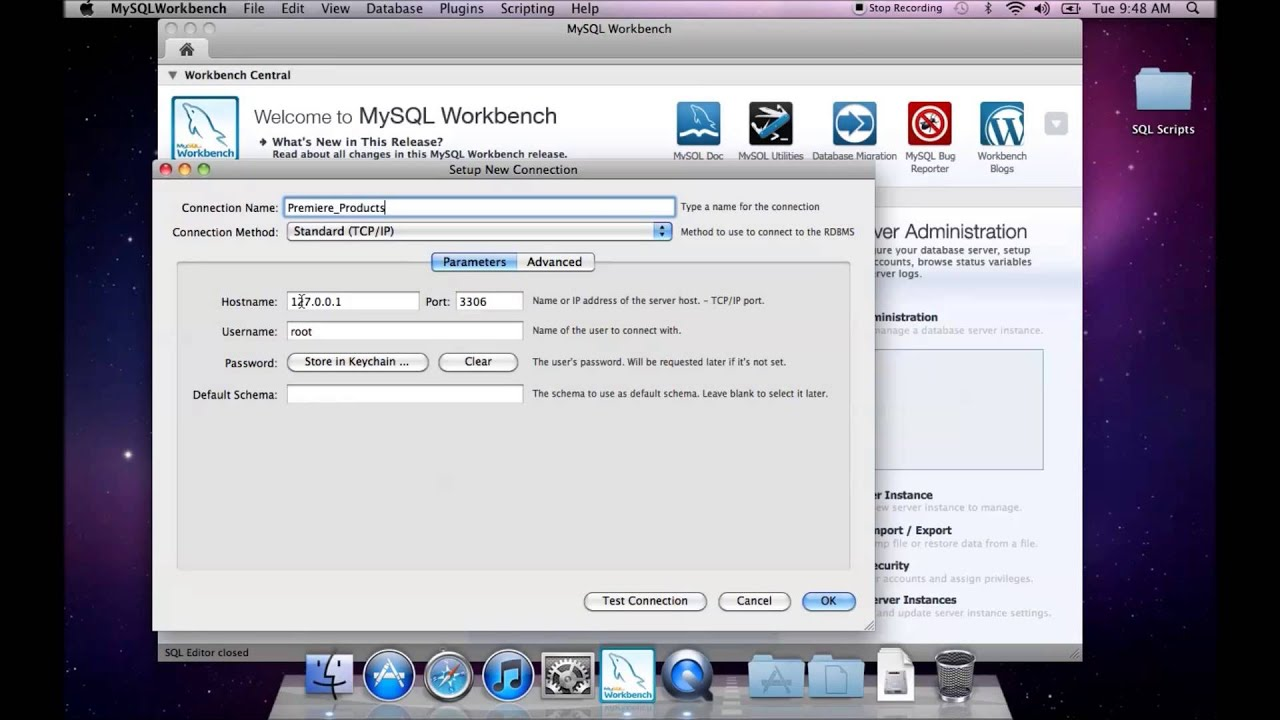 Connect to a database schema mysql workbench youtube connect to a database schema mysql workbench ccuart Choice Image