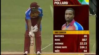 Bangladesh vs West Indies 3rd odi (fall of WI wickets)