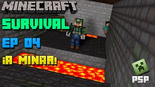 Minecraft PSP | Survival | Episodio 4 | ¡A minar! | Loquendo | HD | luigi2498