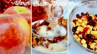 Warm Cranberry Apple Crisp  Vegan Recipe