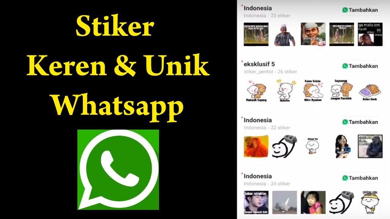 Tutorial Cara Membuat Stiker Whatsapp Lucu Keren Dan Unik