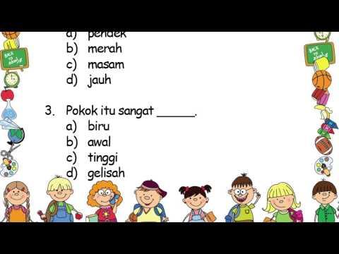 Kata Adjektif Bahasa Malaysia Tahun 2